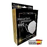 50 uds. Mascarillas FFP2 blancas homologadas y fabricadas en España CE 2797, filtrado de 5...