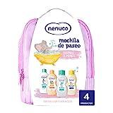 Nenuco Pack Bebé Mochila de Paseo color rosa, contiene colonia, jabón, champú y leche...
