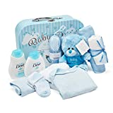 Baby Box Shop - Gift Set for New Baby Boy with Baby Clothes, Teddy and Gifts