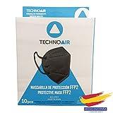 Mascarillas FFP2 Negras de 5 capas en cajas de 50 uds, Homologadas tipo III, fabricadas en...