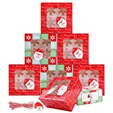 10 cajas para tartas navideñas con 4 orificios, cajas para galletas navideñas con ventana,...