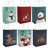 Bolsas Regalo Navidad (Pack de 24) 25 x 20 x 11 cm Variadas Bolsas Navidad con Asas - Bolsas...