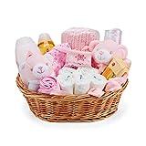 Baby Box Shop - Cesta regalo bebé niña con ropa de bebé - Artículos esenciales para niñas...