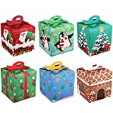 Cabilock 24 Piezas Cajas de Regalo de Navidad Caja Grande de Nochebuena Cajas de Galletas de...