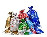 Viilich 30 bolsas de regalo, bolsas de papel de aluminio, 6 diseños diferentes para envolver...
