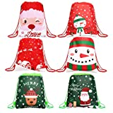 SULOLI Bolsas de regalo de Navidad, con cordón, 12 piezas, grandes bolsas de regalo para...