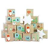 Papierdrachen Juego de Cajas para Calendario de Adviento DIY – 24 Cajas de Colores para...