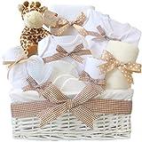 Mr Giraffe - Cesto para bebé (tamaño grande, unisex, neutro, para baby shower, para recién...