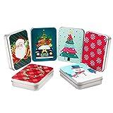 Caja para Tarjetas de Regalo (Pack de 6) 11,5x8,3x2,2 cm Tarjeta Regalo en Lata de Metal - Tema...