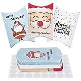 MELLIEX Cajas de Regalo Navidad, 30 Piezas Caja de Papel Dulces Cajitas para Galletas para...