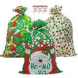 iLovepaper 3 bolsas de regalo de Navidad gigante, bolsa de regalo de plástico grande para...