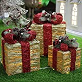 BESTPRVA Caja De Regalo De Luz Led Navidad Casa Decoración Año Nuevo Navidad Escena Diseño...