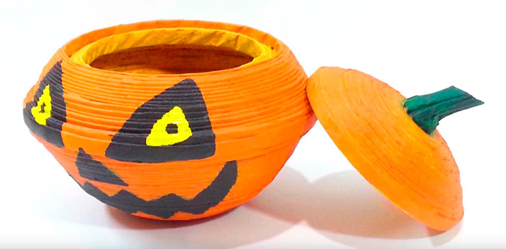 Cómo hacer una Caja de calabaza halloween tenebrosa