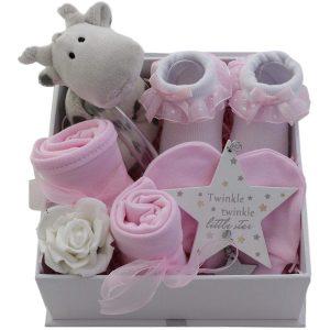 Caja regalo de bebé con ropa