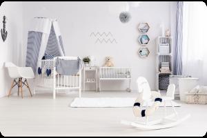 Cajas decoradas para dormitorio de bebés