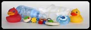 Cesta regalo para el aseo del bebé