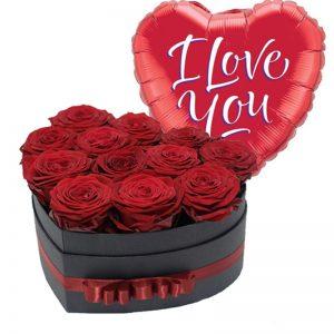 Caja regalo corazón con tapa