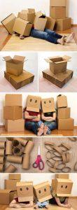 Cajas de cartón para hacer manualidades sostenibles