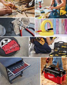 Cajas con herramientas básicas para hogar y coches