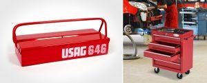 Cajas de herramientas metal con asa o metálicas con ruedas y compartimentos