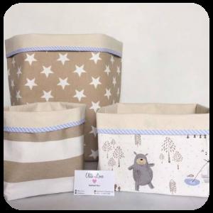 Canastilla o cesta de tela para bebés organizadores de tela