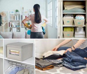 Cajas organizadoras de tela para el hogar