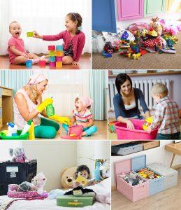 Cajas plásticas infantiles para guardar juguetes