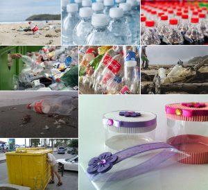 Cajitas hechas con botellas de plástico