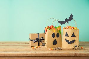 Cajas decoradas para Halloween