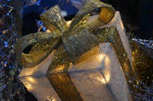 Cajas de regalo de navidad con luces LED
