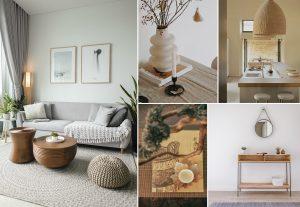 Estilo de diseño de interiores Minimalista y Feng Shui o la tendencia híbrida Japandi