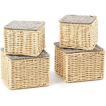 Compra online cajas, canastos y cestas de mimbre, rafia y ratán para tu hogar